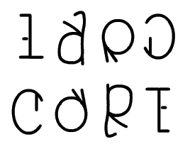 LARD CORE Ambigram JPEG