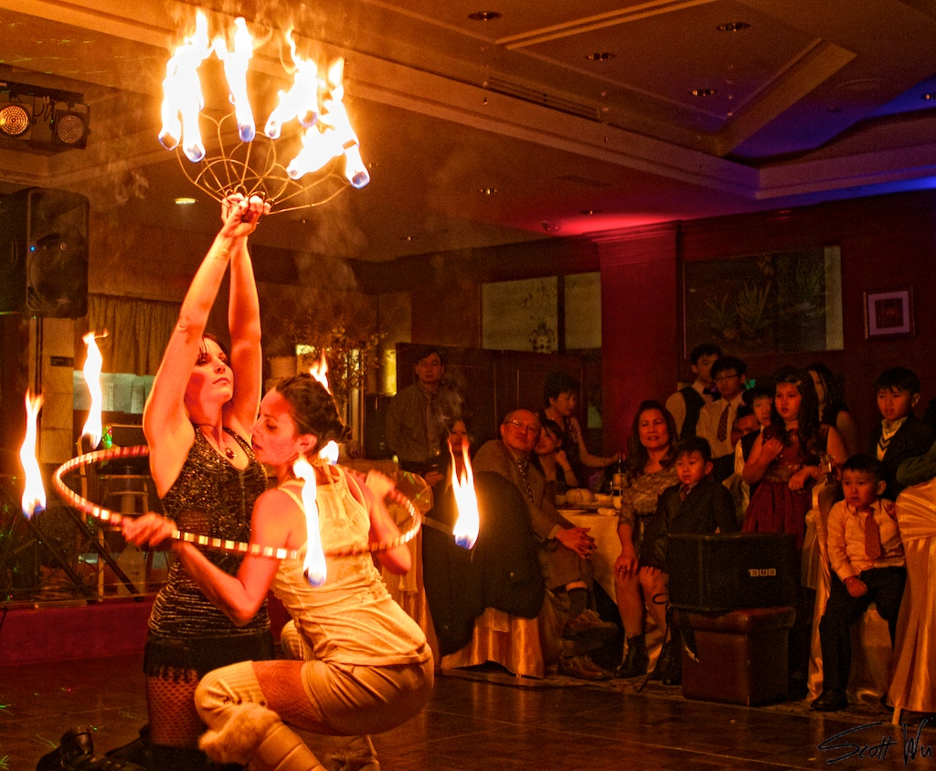 Fire Dancing At A Chinese Wedding Reception Readyandreach