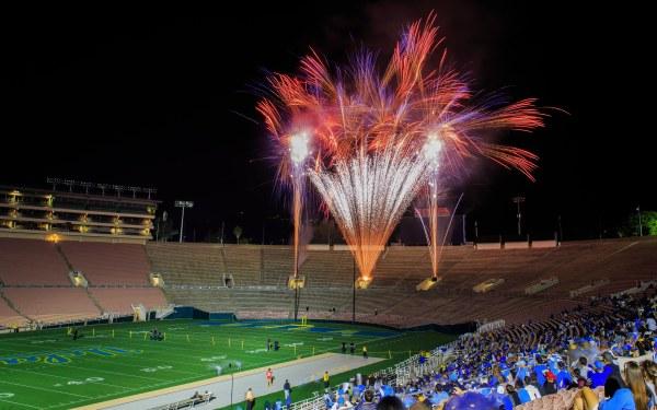 UCLA Football Spring Showcase Fireworks Show by Scott Wu